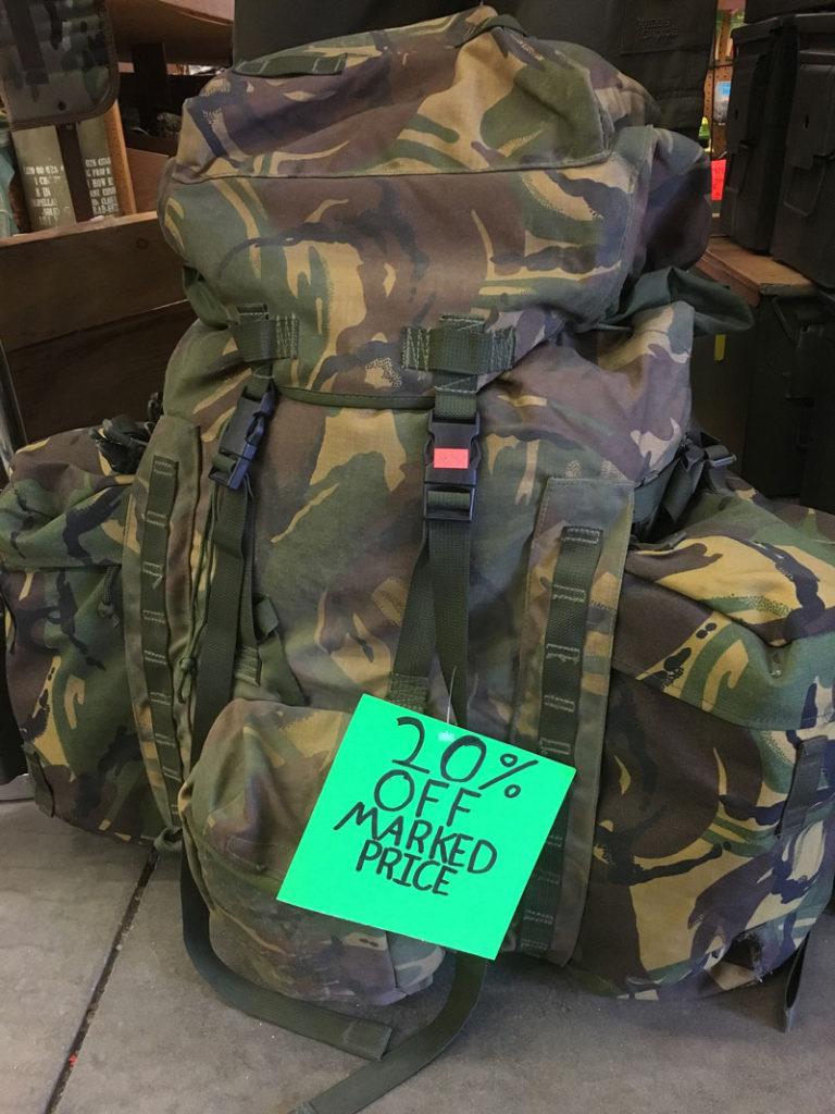 Army Surplus Camo Backpack- Fenix Toulouse Handball